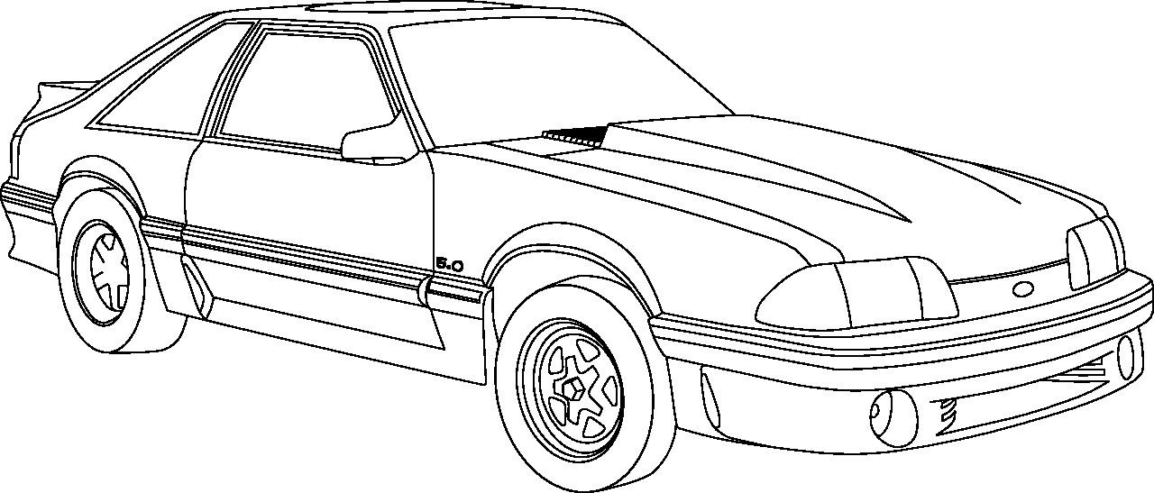 Omalov Nka Mustang Vytisknut