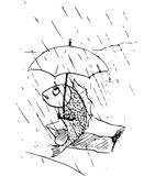 Ryba a deštník